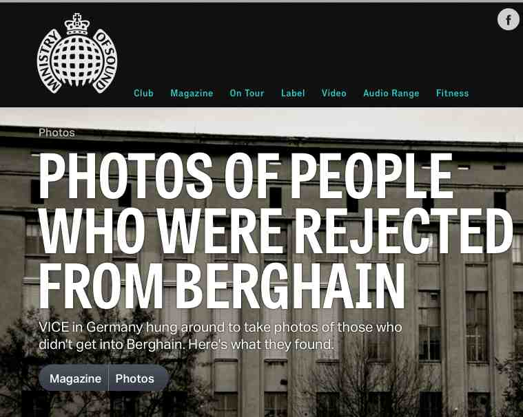 Click for more & Ministry Of Sound Deconstruct Berghain\u0027s Door Policy | Jonty ...